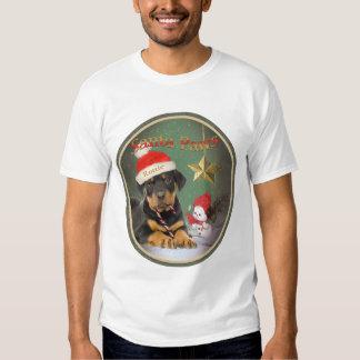 Rottweiler Puppy Xmas Design  Shirts