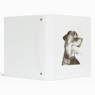 Rottweiler que dibuja la carpeta canina del retrat
