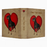 Rottweiler Red Heart Personalized Binder