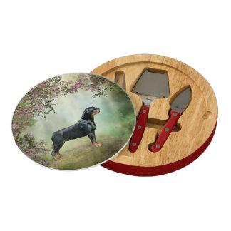 Rottweiler Round Cheese Board
