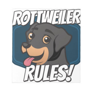 Rottweiler Rules Notepad