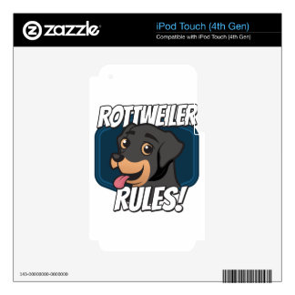 Rottweiler Rules Skins For iPod Touch 4G