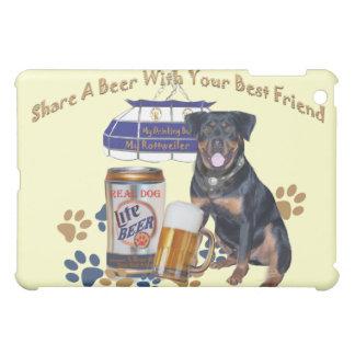 Rottweiler Share A Beer IPAD SKIN iPad Mini Covers