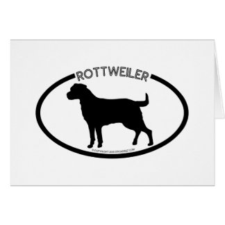 Rottweiler Silhouette Black Card