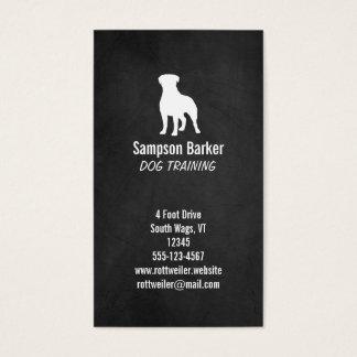 Rottweiler Silhouette - Chalkboard Style Business Card