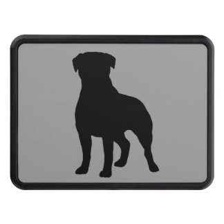 Rottweiler Silhouette Trailer Hitch Cover