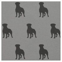 Rottweiler Silhouettes Pattern Fabric