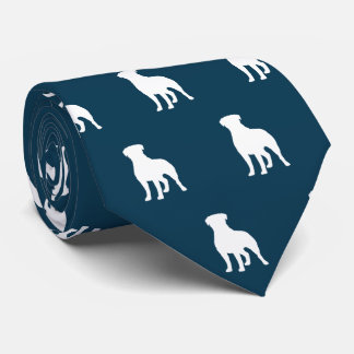 Rottweiler siluetea el azul del modelo corbata personalizada