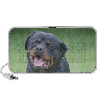 Rottweiler sonriente portátil altavoces