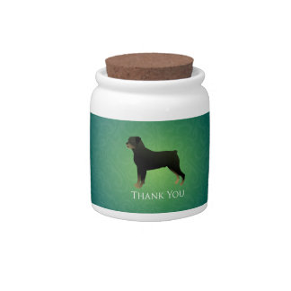Rottweiler Thank You Design Candy Dishes
