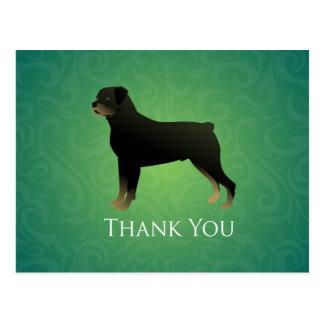 Rottweiler Thank You Design Postcard