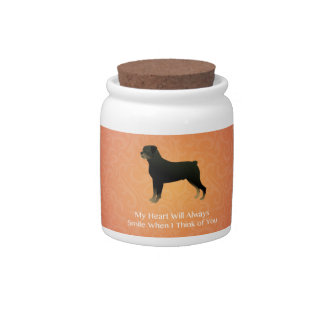 Rottweiler - Thinking of You - Pet Memorial Candy Jars