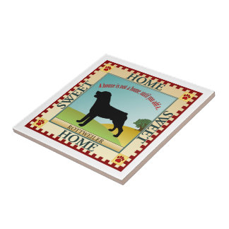 Rottweiler Small Square Tile