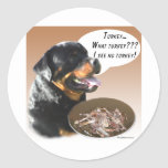 Rottweiler Turquía Etiquetas Redondas
