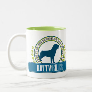 Rottweiler Two-Tone Coffee Mug