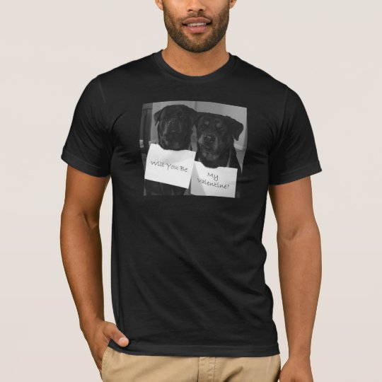 Rottweiler Valentine-Mens T-Shirt