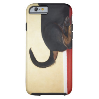 Rottweiler wagging tail, hind section tough iPhone 6 case
