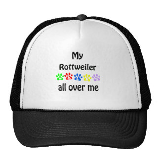 Rottweiler Walks Design Trucker Hat