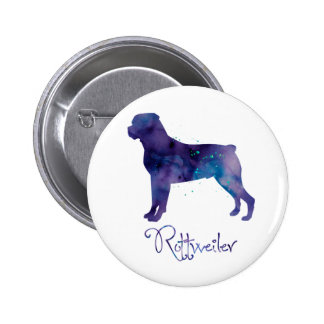 Rottweiler Watercolor Button
