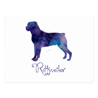 Rottweiler Watercolor Postcard
