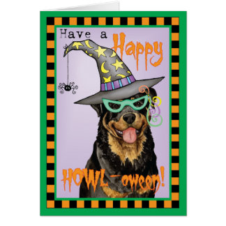 Rottweiler Witch Card