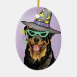 Rottweiler Witch Ornaments