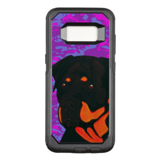 Rottweiler with Pink and Blue Camo OtterBox Commuter Samsung Galaxy S8 Case