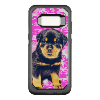 Rottweiler with Pink Camo OtterBox Commuter Samsung Galaxy S8 Case