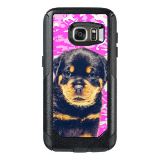 Rottweiler with Pink Camo OtterBox Samsung Galaxy S7 Case