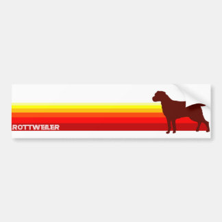 Rottweiler With Stripes Bumper Sticker Car Bumper Sticker
