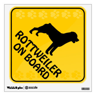 Rottweiler Xing Wall Decal