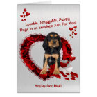 Rottweiler You've Got Mail Puppy Hugs Valentine Card