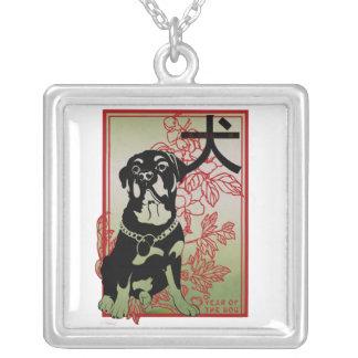 RottweilerAsian inspiró el collar ilustrado