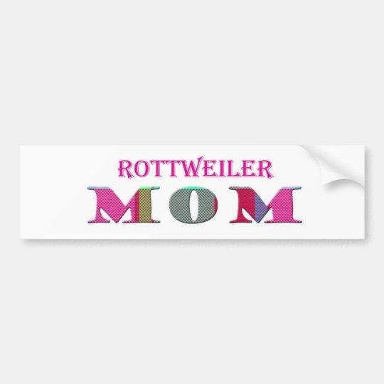 RottweilerMom Bumper Sticker