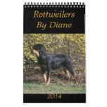Rottweilers 2014 por el calendario de Diane
