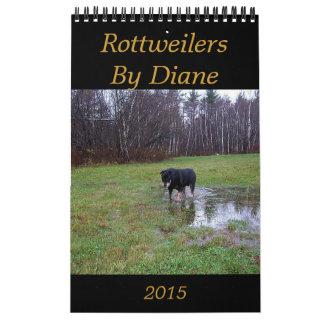 Rottweilers 2015 por el calendario de Diane