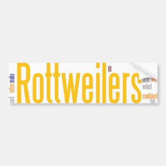 rottweilers bumper sticker