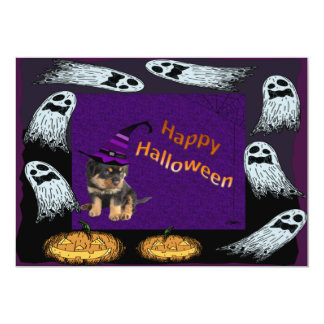 Rottweilers, Ghost and Pumpkins Oooh Errr! Card