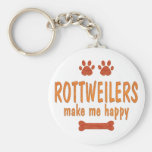 Rottweilers Make Me Happy Key Chains