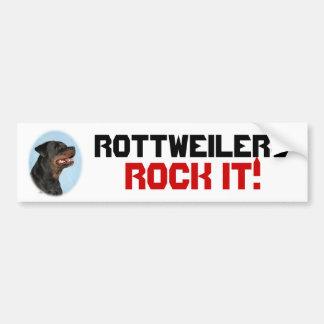 Rottweilers Rock It! bumper sticker