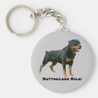 Rottweilers Rule Keychain