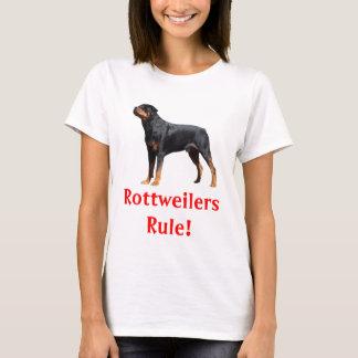 Rottweilers Rule Puppy Dog Ladies Tee Shirt
