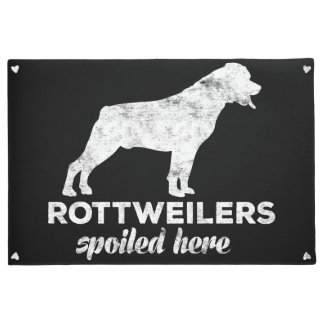 Rottweilers Spoiled Here Doormat
