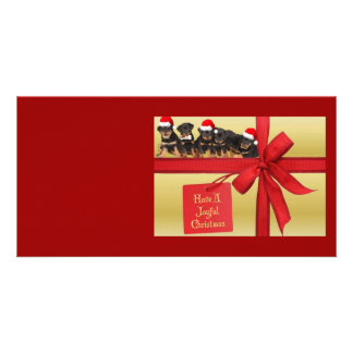 Rottweilers Wish You A Joyful Christmas Photo Card