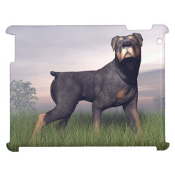 Case Savvy Glossy Finish iPad Case with Rottweiler Phone Cases design