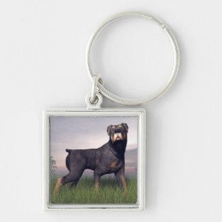 Rottweiller dog keychain