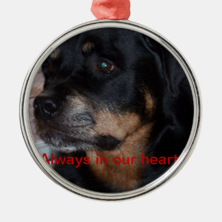 Rottwieler gifts metal ornament