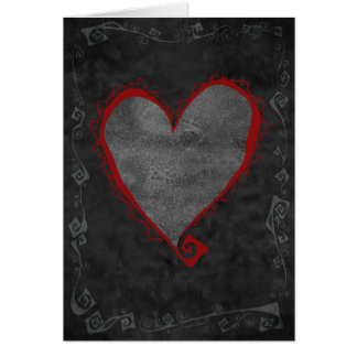Rotty Red Heart Card