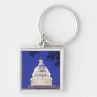 Rotunda of U.S. Capitol at night, Washington Keychain
