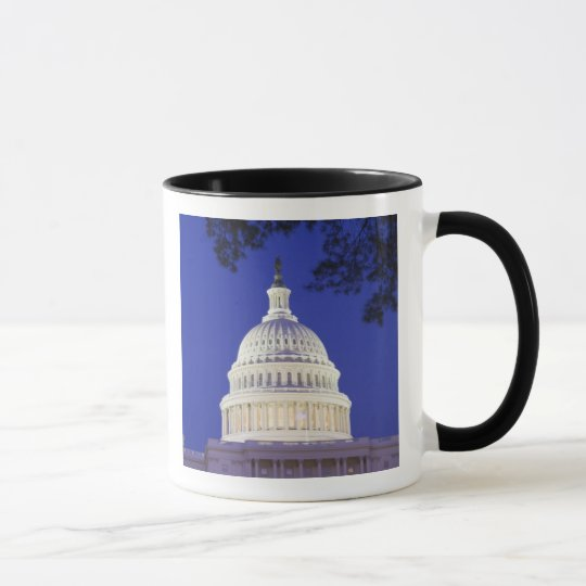 Rotunda of U.S. Capitol at night, Washington Mug